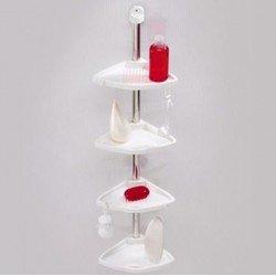 Ъглов пластмасов рафт за баня N12