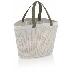 PVC чанта с плетен десен M149 Siva